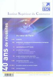 Annales Banque Commune D'Epreuves Ccip ; Corrigees (édition 2003) - 4ème de couverture - Format classique