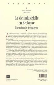 Vie Industrielle En Bretagne - 4ème de couverture - Format classique