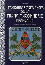 Les grandes obédiences de la franc-maçonnerie française - Intérieur - Format classique