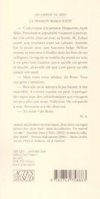 La Pension Marguerite - 4ème de couverture - Format classique
