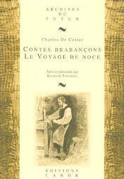 Contes brabançons ; le voyage de noce - Intérieur - Format classique