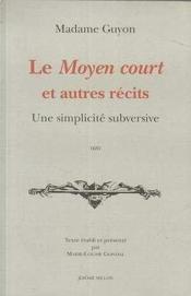 Moyen Court Et Autres Recits (Le) - Couverture - Format classique