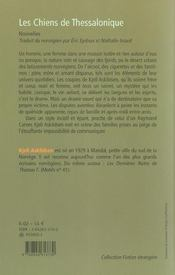 Les Chiens De Thessalonique - 4ème de couverture - Format classique