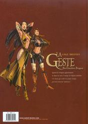 La geste des chevaliers dragons t.2 ; Akanah - 4ème de couverture - Format classique