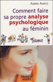 Comment faire analyse psycho. au feminin - Intérieur - Format classique