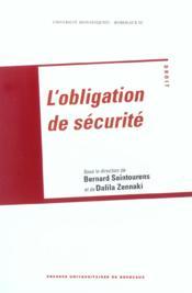 Obligation De Securite - Couverture - Format classique