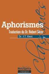 Aphorismes - Trad. Dr Robert Seror - Couverture - Format classique
