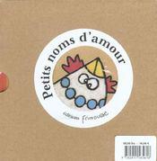Petits Noms Coffret Des 2 Volumes - 4ème de couverture - Format classique