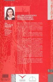 Organisations Intermediaires D'Investisseurs (Les) - 4ème de couverture - Format classique