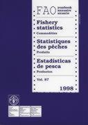 Yearbook of fishery statistics 1998 t.87 ; commodities fao statistics - Couverture - Format classique