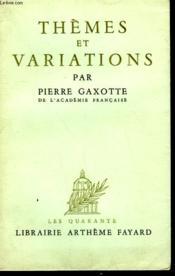 Themes Et Variations. - Couverture - Format classique