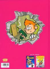 Smax t.3 ; zéro zéro smax - 4ème de couverture - Format classique