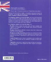 La Conjugaison Anglaise Sur Le Bout Des Doigts Master The English Verb Forms - 4ème de couverture - Format classique