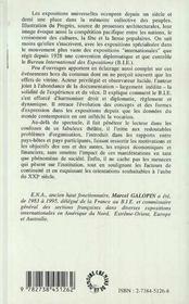 Les Expositions Internationales Au Xx Siecle Et Le Bureau International Des Expositions - 4ème de couverture - Format classique