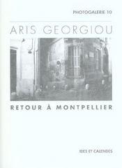 Aris Georgiou Retour A Montpellier - Intérieur - Format classique