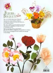 Fleurs Et Bouquets En Tissu - 4ème de couverture - Format classique