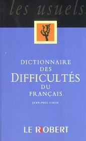 Dictionnaire des difficultes poche usuels - Intérieur - Format classique