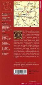 Le Chateau De Blois - 4ème de couverture - Format classique