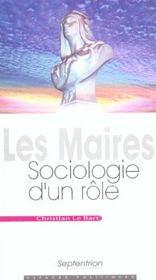 Maires, Sociologie D'Un Role - Intérieur - Format classique
