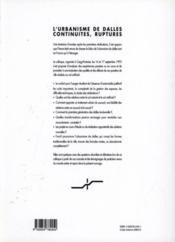 L'urbanisme de dalles continuites & rupture - Couverture - Format classique