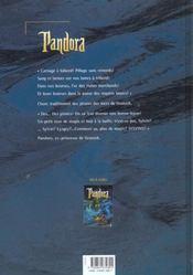 Pandora t.2 ; les flibustiers du grand fleuve - 4ème de couverture - Format classique