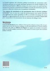 Les Organes De Consultation Et De Participation Dans La Fonction Publique Territoriale - 4ème de couverture - Format classique