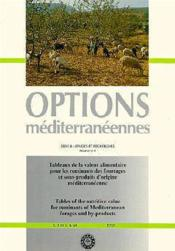 Tableaux de la valeur alimentaire pour les ruminants des fourrages et sousproduits d'origine mediterraneenne - Couverture - Format classique