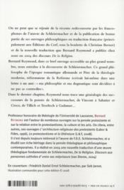 À la découverte de Schleiermacher - 4ème de couverture - Format classique
