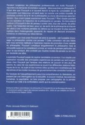 La Pensee Foucault - 4ème de couverture - Format classique