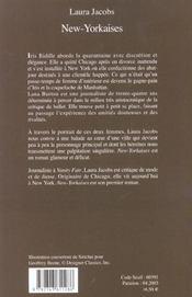 New-Yorkaises - 4ème de couverture - Format classique