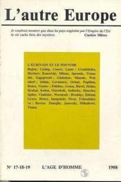 A17/18/19 Autre Europe (L') Ecrivain & Pouvoir - Couverture - Format classique