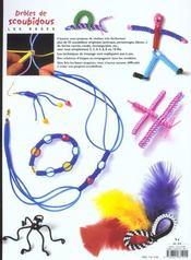Drôles de scoubidous ; les bases ; 55 modèles originaux - 4ème de couverture - Format classique