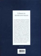 Le Patrimoine Des Telecommunications Francaises - 4ème de couverture - Format classique