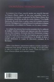 Nouveau Franciscanisme - 4ème de couverture - Format classique