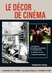 Le décor au cinema - Couverture - Format classique