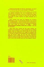 Revue Lumieres N.1 - 4ème de couverture - Format classique