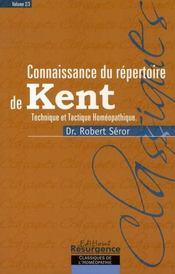 Connaissance du répertoire de kent - Intérieur - Format classique