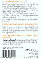 Le Petit Livre De La Conjugaison Correcte ; Petit Repertoire Utile Par Tous Les Temps - 4ème de couverture - Format classique