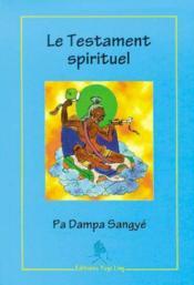 Le Testament Spirituel - Couverture - Format classique