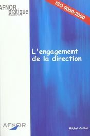 Vente livre :  Engagement De La Direction  - Michel Cattan