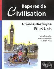 Reperes De Civilisation Grande-Bretagne Etats-Unis - Intérieur - Format classique