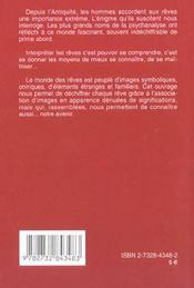 Atlas Des Reves (L') Poche - 4ème de couverture - Format classique