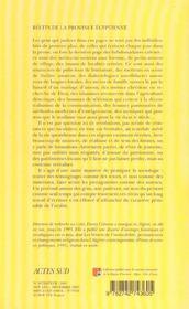 Recits De La Province Egyptienne - 4ème de couverture - Format classique