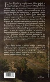 Flavius josèphe, un juif dans l'empire romain - 4ème de couverture - Format classique