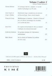 Revue Philosophia Scientiae N.5-2 - 4ème de couverture - Format classique