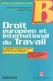 Guide des relations europeennes et internationales de travail - Intérieur - Format classique