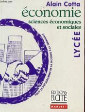 Economie lycee - sciences economiques et sociales - Couverture - Format classique