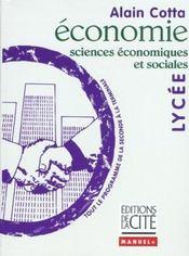 Economie lycee - sciences economiques et sociales - Intérieur - Format classique
