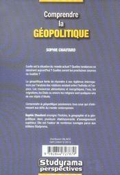 Comprendre La Geopolitique - 4ème de couverture - Format classique