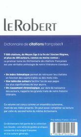 Citations Francaises Poche T1 - 4ème de couverture - Format classique